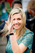 Koningin Maxima houdt maandagochtend 23 mei 2016 in Pakhuis West in Amsterdam de openingstoespraak b