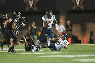 Mississippi's Laquon Treadwell (1) vs. Vanderbilt in Nashville, Tenn. on Thursday, August 29, 2013. Ole Miss won 39-35.