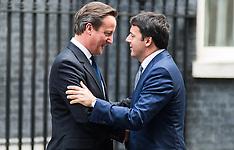 Italian PM Matteo Renzi visits London October 2014