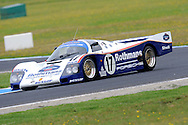 1987 Rothmans Porsche 962.Historic Motorsport Racing - Phillip Island Classic.18th March 2011.Phillip Island Racetrack, Phillip Island, Victoria.One of the famous 956/962 race cars which won the Le Mans 24 Hour seven times between 1982 and 1994 is also part of the collection. The display car is the Rothmans 962 raced to victory in 1987 by Derek Bell, Hans Stuck and Al Holbert..(C) Joel Strickland Photographics.Use information: This image is intended for Editorial use only (e.g. news or commentary, print or electronic). Any commercial or promotional use requires additional clearance.