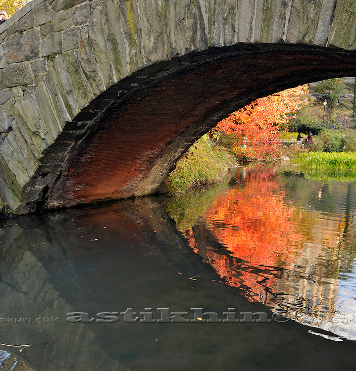 Reflection of the Fall under Gapstow Bridge