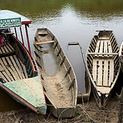 Bolivia. Travelling by boat on the river Ibare on to Copacobana in the Bolivian Amazon.