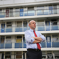 John Healey MP at Churchill Gardens Estate, Pimlico
