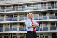 John Healey MP at Churchill Gardens Estate, Pimlico