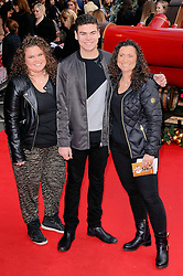 Amy Tapper, Josh Tapper and Nikki Tapper attend The UK Premiere of Get Santa at Vue West End, Leicster Square, London on Sunday 30th November 2014