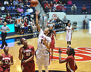 Ole Miss' Kenyotta Jenkins (11) vs. Alabama's Kaneisha Horn (40) in NCAA women's basketball action in Oxford, Miss. on Sunday, January 13, 2013.  Alabama won 83-75.