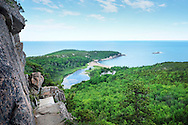 A view from the Beehive Trail in Acadia National Park, ME