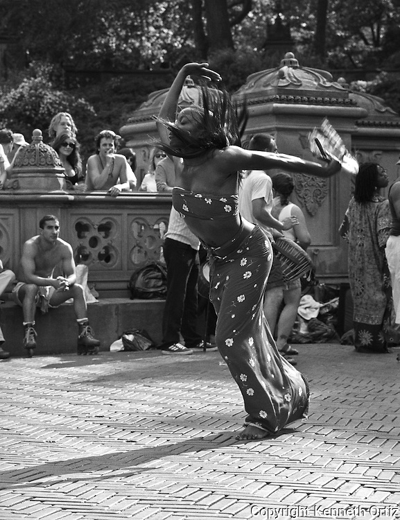 A dancer lets loose in Central Park in New York City.