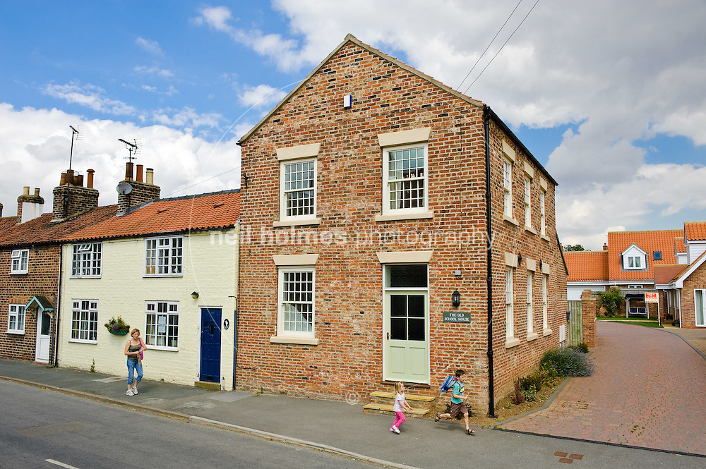 The converted Old School House on Middle Street, Kilham village East Yorkshire
