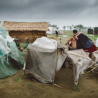 Sittwe IDP camps. May 2013.<br /> <br /> Unregistered Thandoli IDP camp in Sittwe.