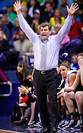SOUTH BEND, IN - MARCH 04: Head coach Geno Auriemma of the Connecticut Huskies seen on the sidelines during the game against the Notre Dame Fighting Irish at Purcel Pavilion on March 4, 2013 in South Bend, Indiana. Notre Dame defeated Connecticut 96-87 in triple overtime to win the Big East regular season title. (Photo by Michael Hickey/Getty Images) *** Local Caption *** Geno Auriemma