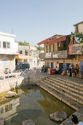 Israel, Upper Galilee, The Druze village of Peki'in. The spring square in the town centre