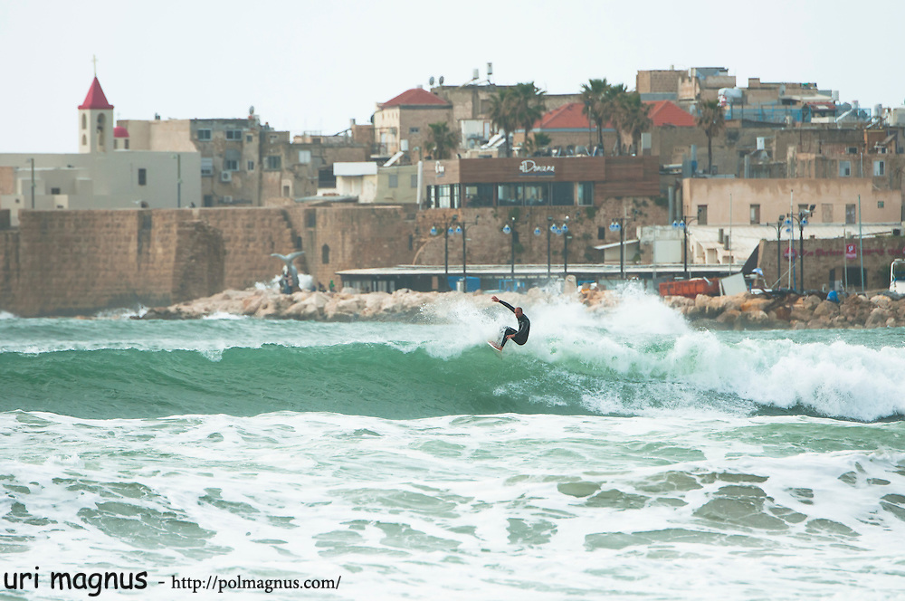 surf in the old city of akko - israel<br />