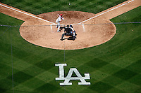 May 13, 2007: Graphic overview of the home plate during the Dodgers 10-5 win over the Cincinnati Reds at Dodger Stadium during a day game in Los Angeles, CA.