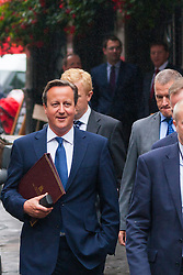 Downing Street, London, September 1st 2014. Prime Minister David Cameron walks to Parliament ahead of his address on the threat to Britain by Islamists, and the ,measures he is proposing to mitigate their effectiveness.  PAYMENT/CONTACT DETAILS: paul@pauldaveycreative.co.uk Te' +44 (0) 7966 016 296 or +44 (0) 208 969 6875