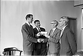 1963 - Presentation by Mr. Corcoran to Mr. Yeats in for 25 years service at Esso
