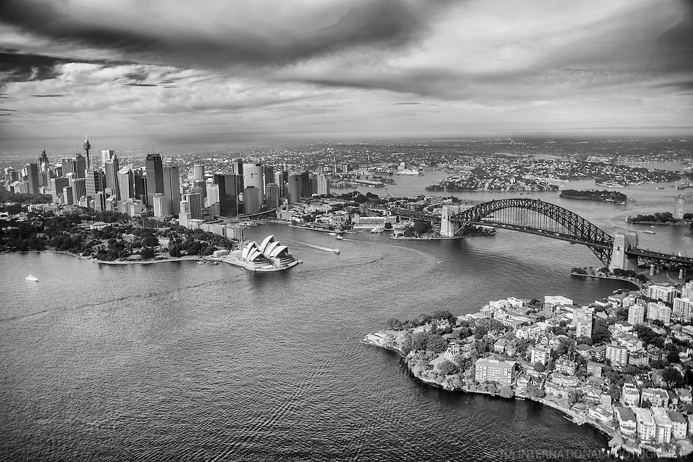 City of Sydney & Port Jackson (monochrome)