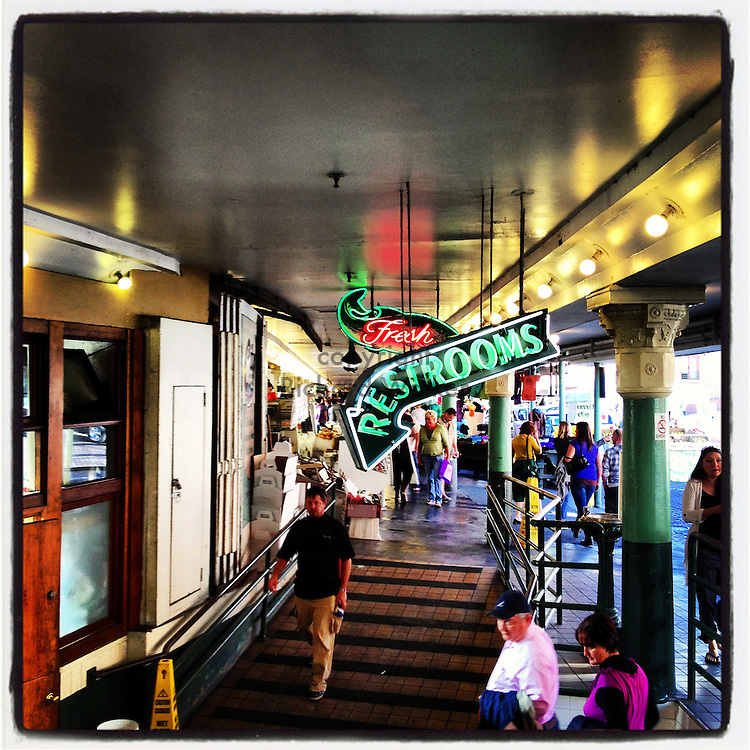 2012 October 08 - Scene from Pike Place Market, Seattle, WA, USA. Taken/edited with Instagram App for Apple iPhone. By Richard Walker