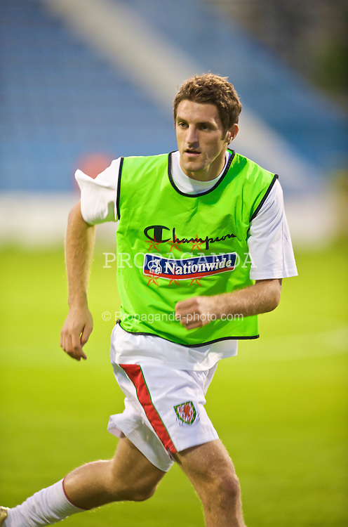 PODGORICA, MONTENEGRO - Wednesday, August 12, 2009: Wales' Sam Ricketts warms-up before an international friendly match against Montenegro at the Gradski Stadion. (Photo by David Rawcliffe/Propaganda)