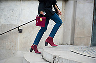 Burgundy Bag and Boots, Outside Ellery FW2017 2