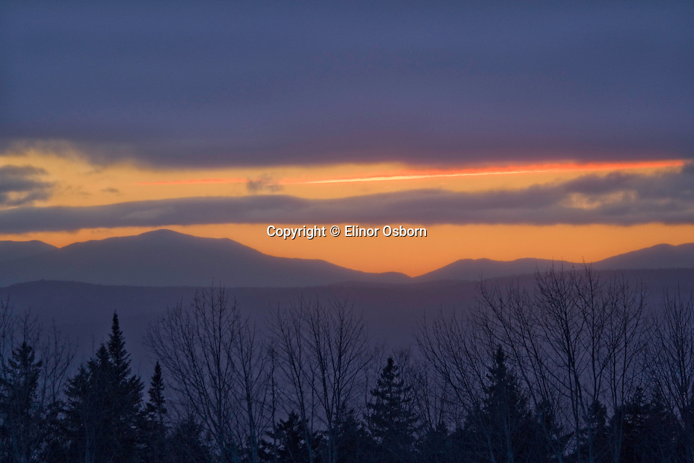 Lowell Mountains from S Albany Rd