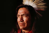 Navajo Traditional Dancer Roy Pete in Browning, Montana 1986