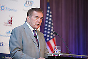 General Session: Keynote by Tom Ridge, first US Secretary of Homeland Security, Chairman of Ridge Insurance Solutions. Tom Ridge was governor of Pennsylvania until he was named Assistant to the President for Homeland Security following 9/11. He was later appointed the first Secretary of the US Department of Homeland Security. Today, Ridge is Chairman of Ridge Insurance Solutions. The world's largest Cyber Risk event for P&C Professionals. Attendees at the Advisen Cyber Risk Insights conference left with a full  understanding of a wide range of risks posed by digital commerce and social networking. A command of the insurance products designed to address those risks. Top  underwriters, brokers, lawyers and security experts shared their expertise. Leveraging Advisen's unparalleled data and analytical resources, attendees learned about tools and the knowledge necessary to perform effectively in this rapidly growing and fast-changing area. (Photo: Jeffrey Holmes)