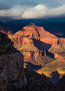 Isis Temple, located in the Heart of the Grand Canyon. It is a prominent feature and is visible from Grand Canyon Village.
