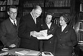 1963 - Cardinal Spellman books presented to President de Valera