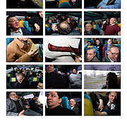 Pictures of Budapest Gypsy Symphony Orchestra ( 100 Violins)  during their trip from Budapest to Istanbul by bus on December 2007