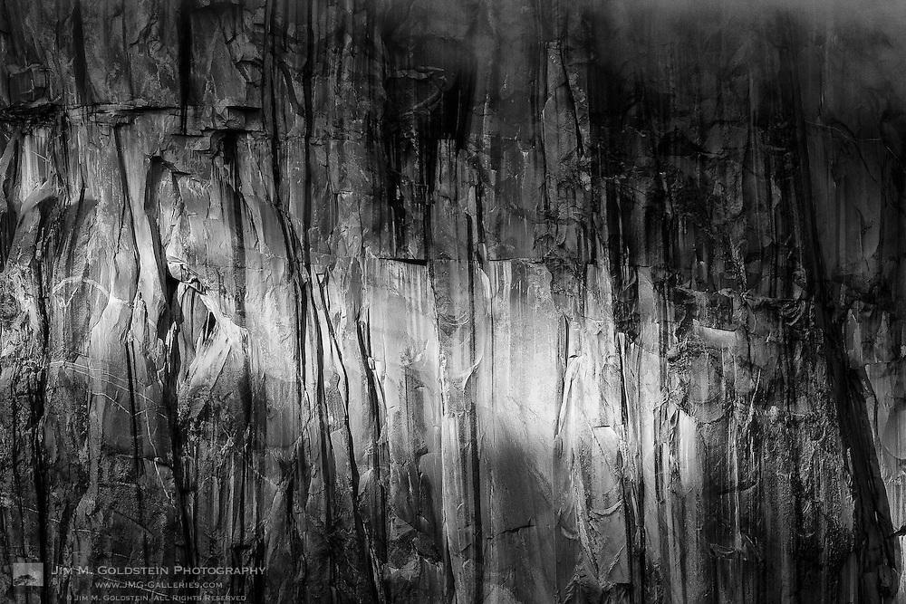 El Capitan cliff-face detail - Yosemite National Park, California