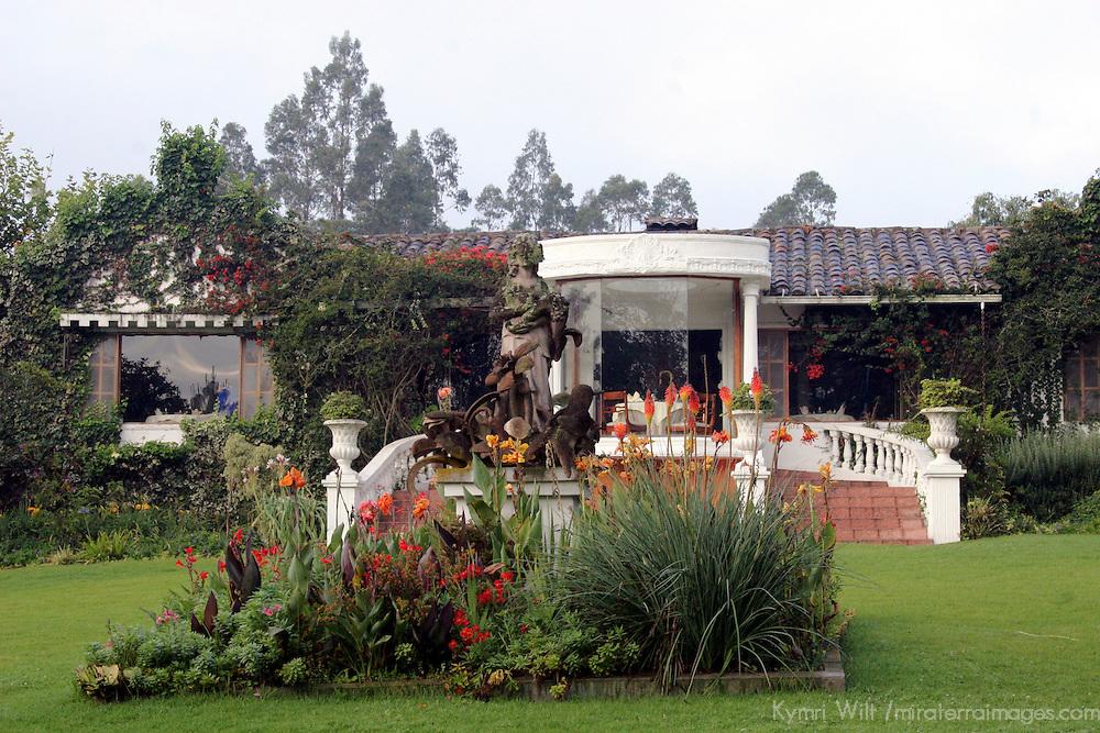 South America, Ecuador, Cotacachi. La Mirage Garden Hotel in Eucador