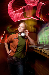 NEWS&GUIDE PHOTO / PRICE CHAMBERS.Emily Brumsted moonlights as a DJ at the Stone Table, using her laptop and headphones to rock the socks off valley nocturnals looking for a good time.
