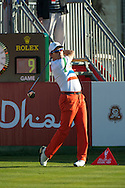 19.01.2013 Abu Dhabi, United Arab Emirates.  Ignacio Garrido in action during the European Tour HSBC Golf championship  third round from the Abu Dhabi Golf Club.