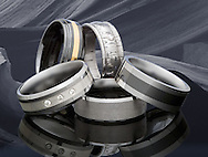 Made of titanium, cobalt and tugnsten, these rings are difficult to shoot because of their small size and reflective surfaces.