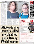 'Mickey-taking insurers killed my disabled girl's Disney World dream'