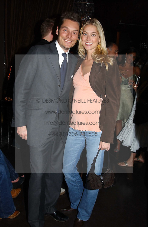 SEB &amp; HEIDI BISHOP she was model Heidi Wichlinski at the opening party for the new BECCA cosmetics store at 91a Pelham Street, London SW7 on 19th May 2005.<br />