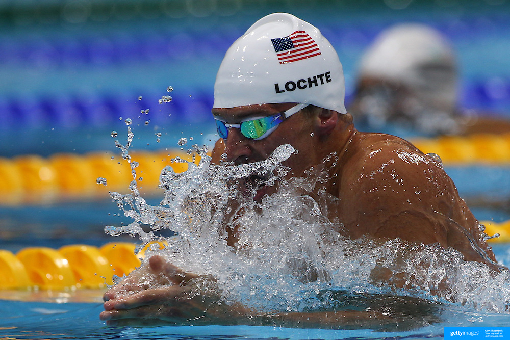Ryan Lochte, USA, in action during the Men's 400m Individual Medley during the swimming heats at the Aquatic Centre at Olympic Park, Stratford during the London 2012 Olympic games. London, UK. 28th July 2012. Photo Tim Clayton