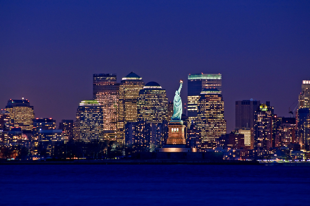 New York City Skyline and Statue of Liberty