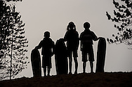 Children on the sand dunes, Roseisle, Aberdeenshire and Moray Forest District, Forestry Commission Scotland