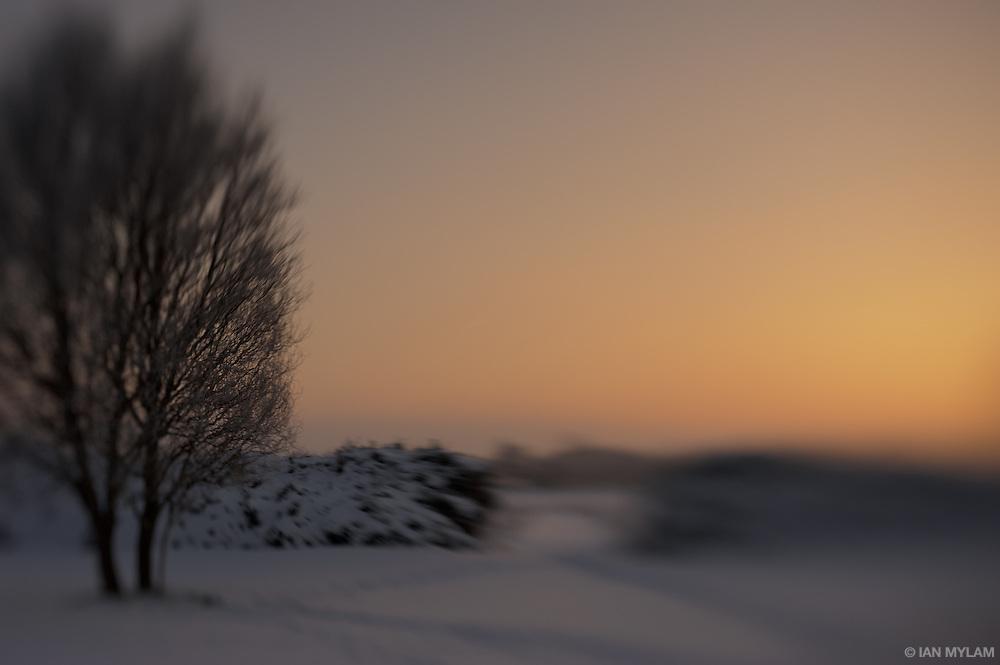 Sunset on 31st December - Island of Funen, South Denmark