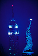 Empire State building and Statue of Liberty National Monument, New York City, New  York, New Jersey