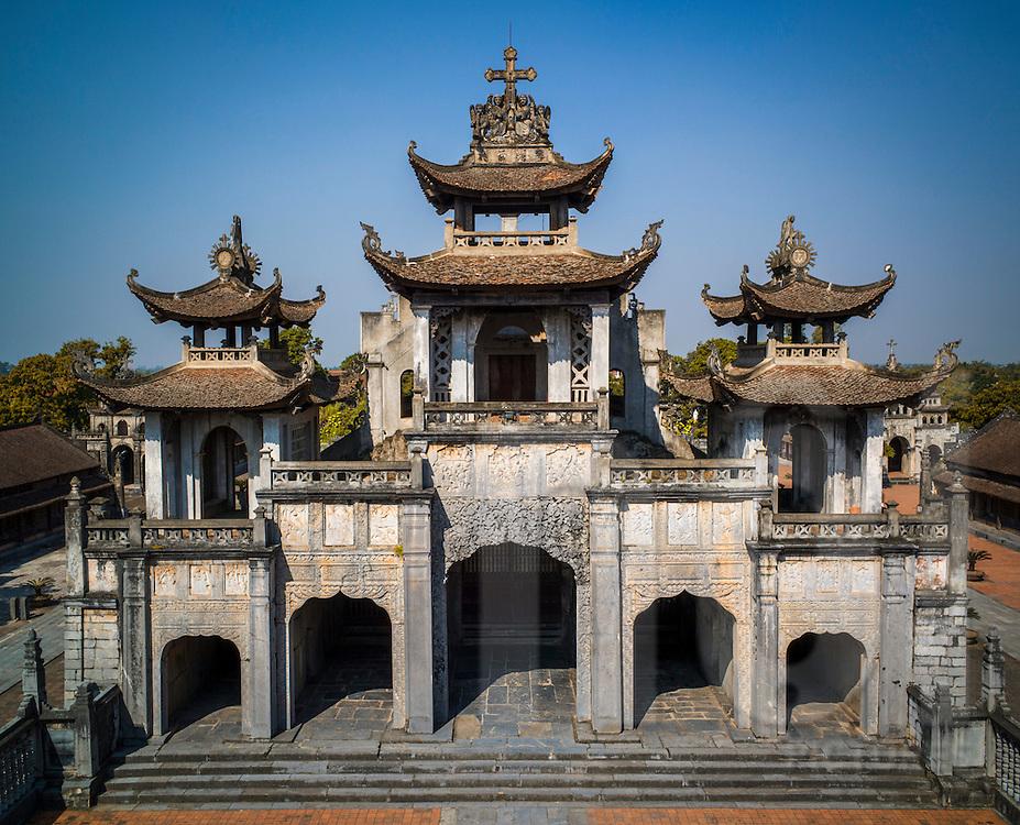 Phat Diem Cathedral, Ninh Binh Province, Vietnam, Southeast Asia