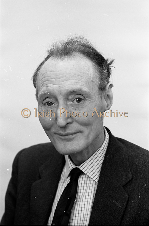 04/02/1966<br /> 02/04/1966<br /> 04 February 1966<br /> Mr. Mike Nolan at John Player and Sons, Botanic Road, Dublin. Mr Nolan was to adjudicate the Limerick Tops of the Town Talent Competition on 12th February 1966. Mr. Nolan was active as a producer, scriptwriter, and was best known for his achievements in the field of variety on stage and radio. He also had success in legitimate theatre.