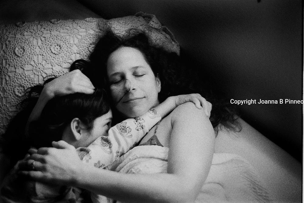 Maat and daughter Eden, 14, bedtime.