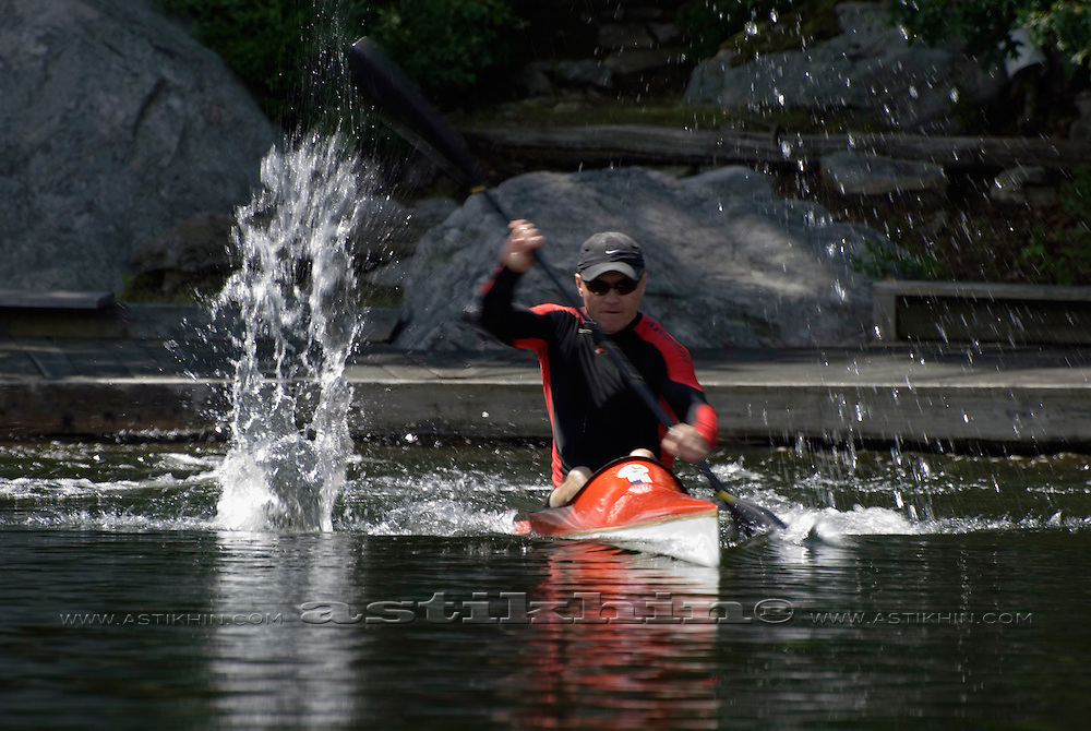 Start on Olympic style kayak K1