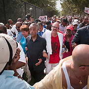 On August 28, 2010, Al Sharpton and other civil rights leaders led a march to commemorate the 47th anniversary of the historic March on Washington. After gathering at Dunbar High School in Washington, D.C., thousands of people marched five miles to the site on the National Mall to the planned memorial to Martin Luther King Jr.