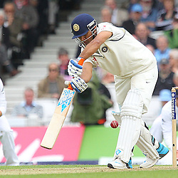 India's Mahendra Singh Dhoni  during the first day of the Investec 5th Test match between England and India at the Kia Oval, London, 15th August 2014 © Phil Duncan | SportPix.org.uk