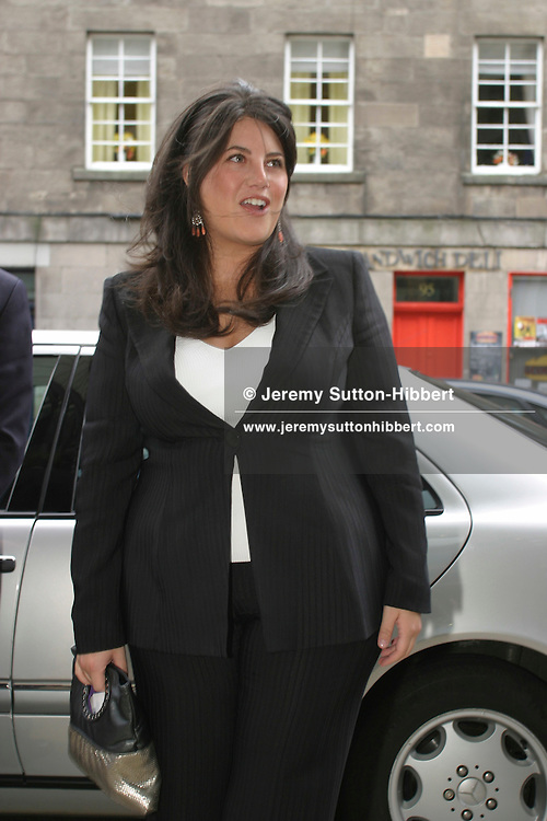 Monica Lewinsky appearing at the Edinburgh International Television Festival, at Edinburgh International Conference Centre..(  pictures, non-exclusive)