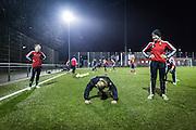 Frankfurt | 20 February 2017<br /> <br /> Fussballtraining Fussballerinnen FFC Frankfurt, 3. Damenmannschaft, im FFC-Stadion am Brentanobad.<br /> Hier: Liegest&uuml;tze als p&auml;dagogische Ma&szlig;nahme.<br /> <br /> photo &copy; peter-juelich.com